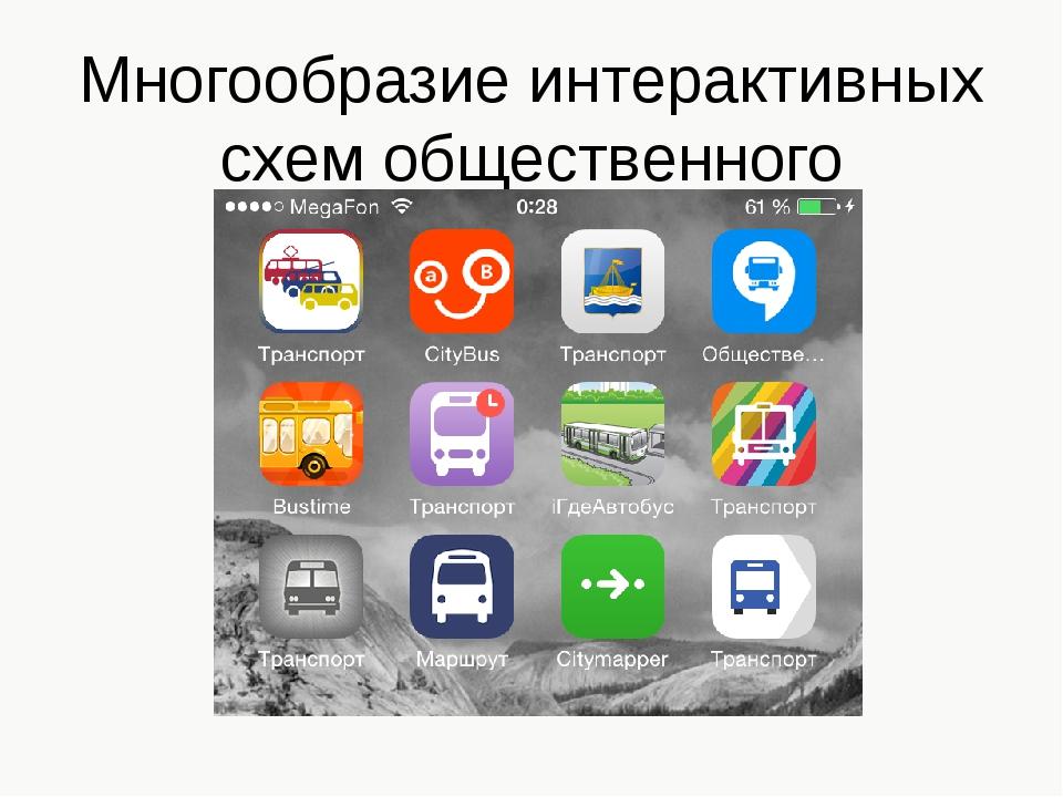 Многообразие интерактивных схем общественного транспорта