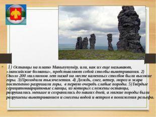 1) Останцы на плато Маньпупунёр, или, как их еще называют, «мансийские болва