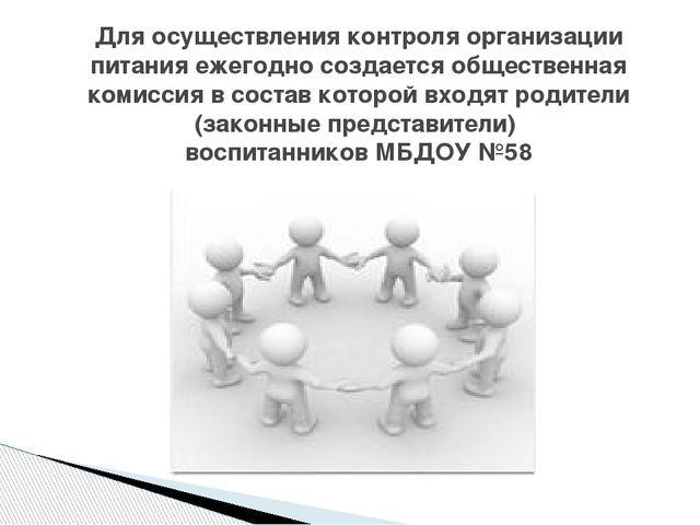 Для осуществления контроля организации питания ежегодно создается общественна...
