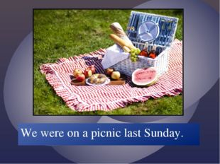 We were on a picnic last Sunday.