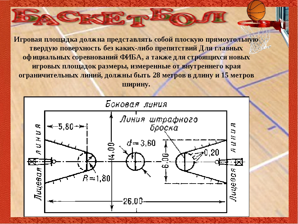 Игровая площадка должна представлять собой плоскую прямоугольную твердую пов...