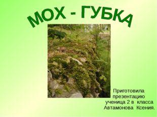 Приготовила презентацию ученица 2 в класса Автамонова Ксения.