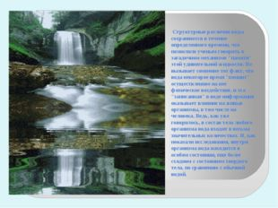 Структурные различия воды сохраняются в течение определенного времени, что п