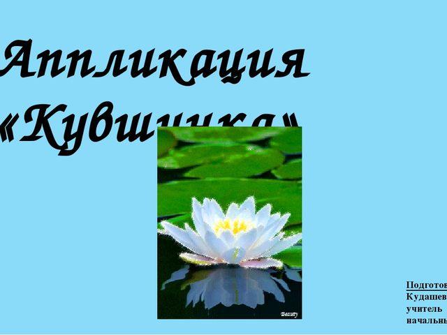 Аппликация «Кувшинка» Подготовила: Кудашева Ю.В. учитель начальных классов