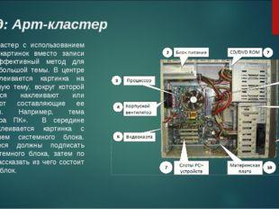 Вид: Арт-кластер Кластер с использованием сюжетных картинок вместо записи сло