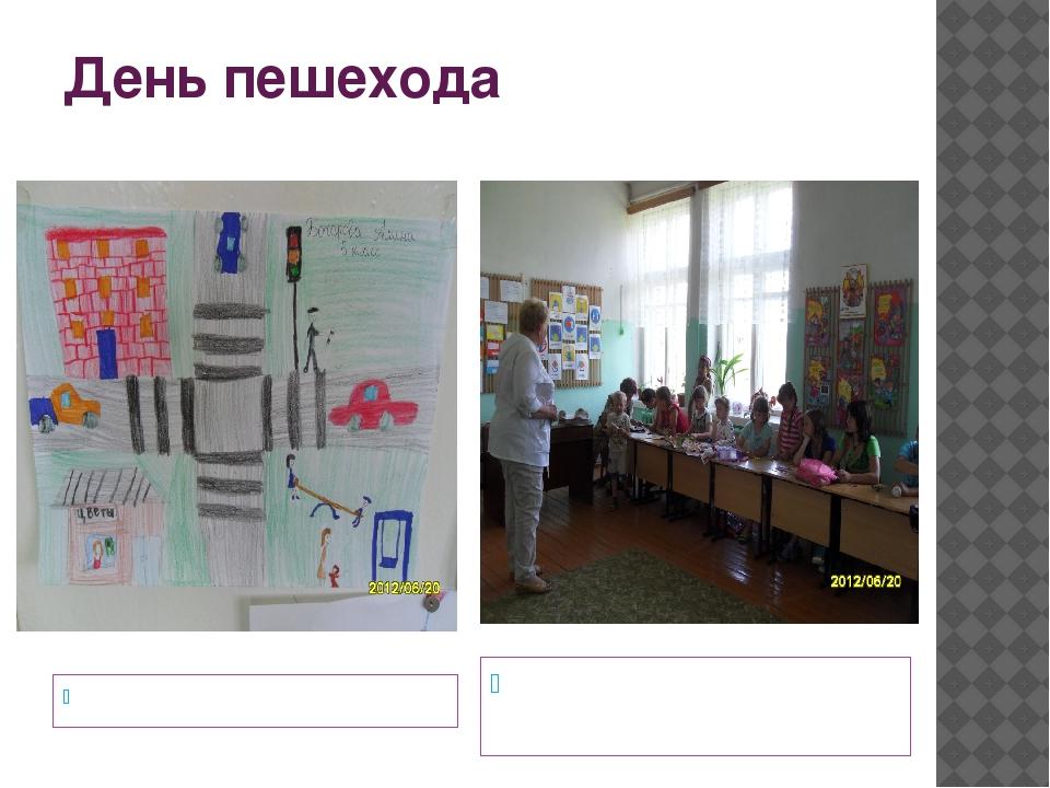 День пешехода Рисунки по теме дня Беседа по теме « Помните, дети, правила эти»