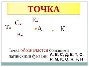 в. С. т. Е. А, В, С, Д, Е, Т, О, Р, М, K, Q, R, F, H «Точка» в русском языке