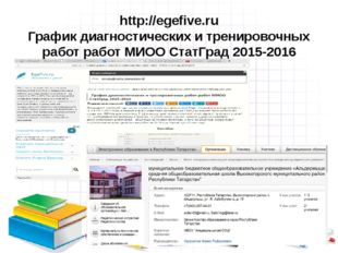 http://egefive.ru График диагностических и тренировочных работ работ МИОО Ста