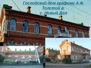 Господский дом графини А.Ф. Толстой в с. Новый Дол