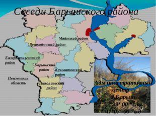 Соседи Барышского района Кузоватовский район Майнский район Вешкаймский район