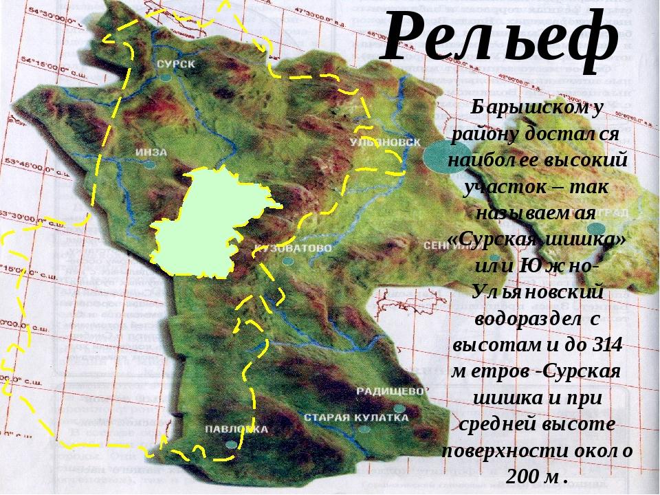 Рельеф Барышскому району достался наиболее высокий участок – так называемая «...