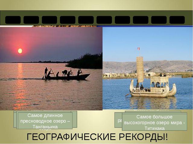 ГЕОГРАФИЧЕСКИЕ РЕКОРДЫ! Самое большое озеро в мире – Каспийское озеро Самое...