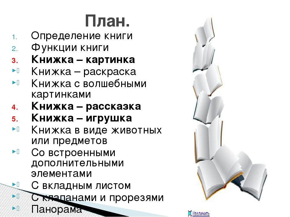 Определение книги Функции книги Книжка – картинка Книжка – раскраска Книжка с...