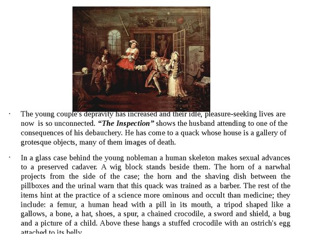 The young couple's depravity has increased and their idle, pleasure-seeking l...