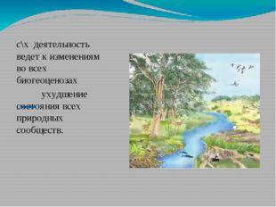 с\х деятельность ведет к изменениям во всех биогеоценозах ухудшение состояни
