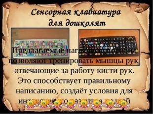 Сенсорная клавиатура для дошколят Предлагаемые наглядные пособия позволяют тр