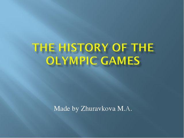 Made by Zhuravkova M.А.