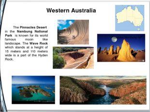 Western Australia Pinnacles Numbung NP Wave Rock HorizontalWaterfalls West