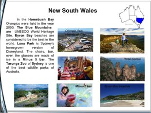 New South Wales Blue Mountains National Park Byron Bay beaches Minus 5 bar T