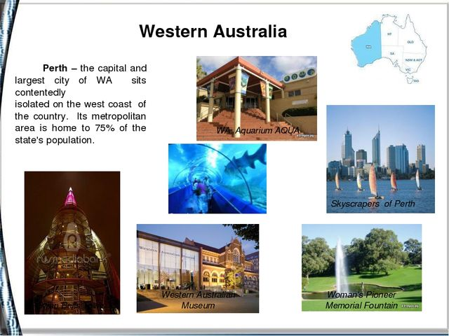 Western Australia Skyscrapers of Perth Western Australian Museum WA Aquarium...