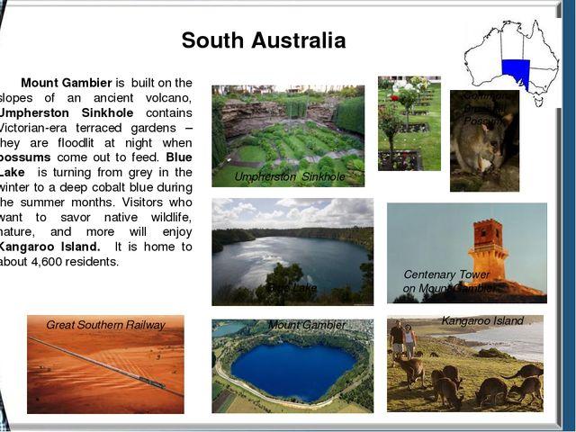 South Australia Great Southern Railway Umpherston Sinkhole Common Brushtail...