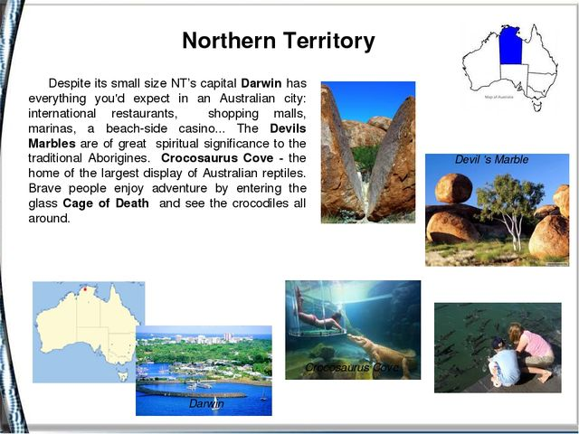 Northern Territory Devil's Marble Crocosaurus Cove Despite its small size N...