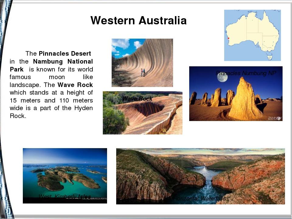 Western Australia Pinnacles Numbung NP Wave Rock HorizontalWaterfalls West...