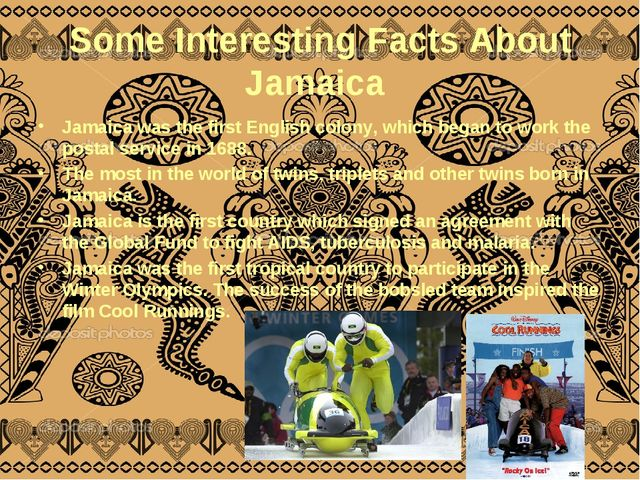 Some Interesting Facts About Jamaica Jamaica was the first English colony, wh...