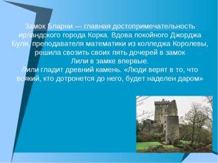 Замок Бларни — главная достопримечательность ирландского города Корка. Вдова