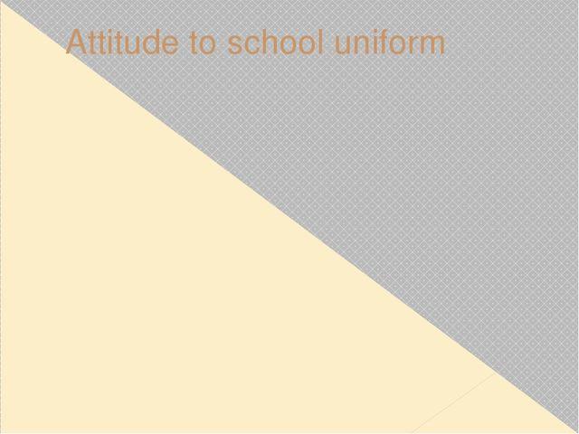 Attitude to school uniform