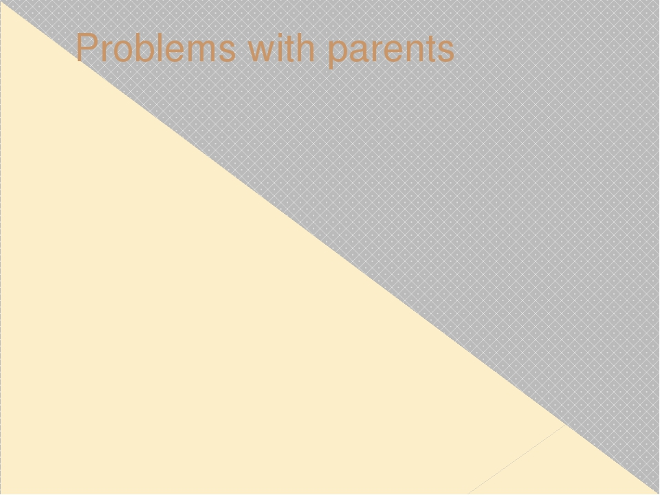 Problems with parents