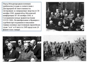 Перед Международным военным трибуналом (создан в соответствии с Декларацией о