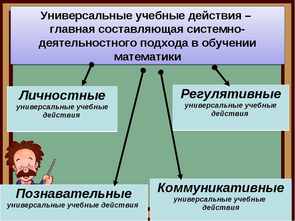 Универсальные учебные действия – главная составляющая системно-деятельностног...
