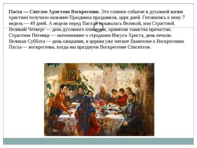 Пасха — Светлое Христово Воскресение. Это главное событие в духовной жизни хр...