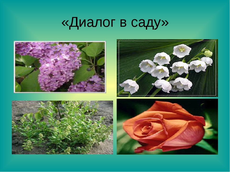 «Диалог в саду»