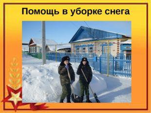 Помощь в уборке снега