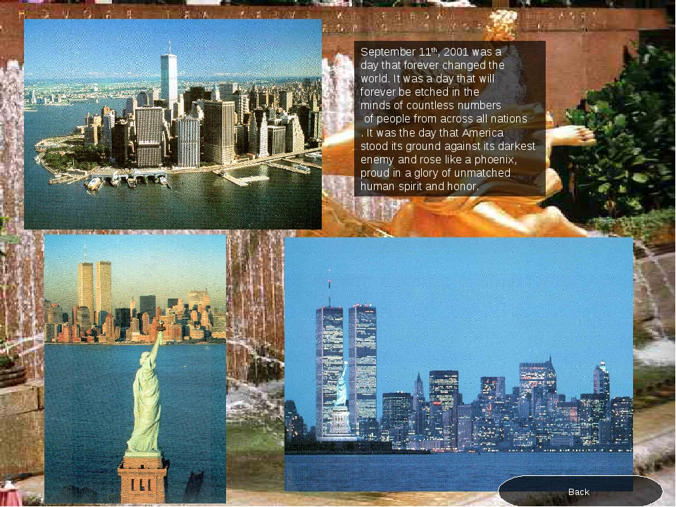 September 11th, 2001 was a day that forever changed the world. It was a day t...
