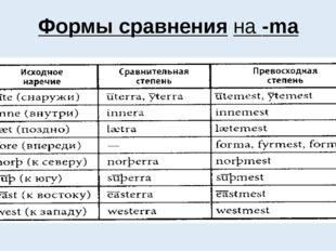 Формы сравнения на -ma