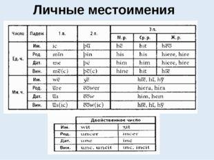 Личные местоимения