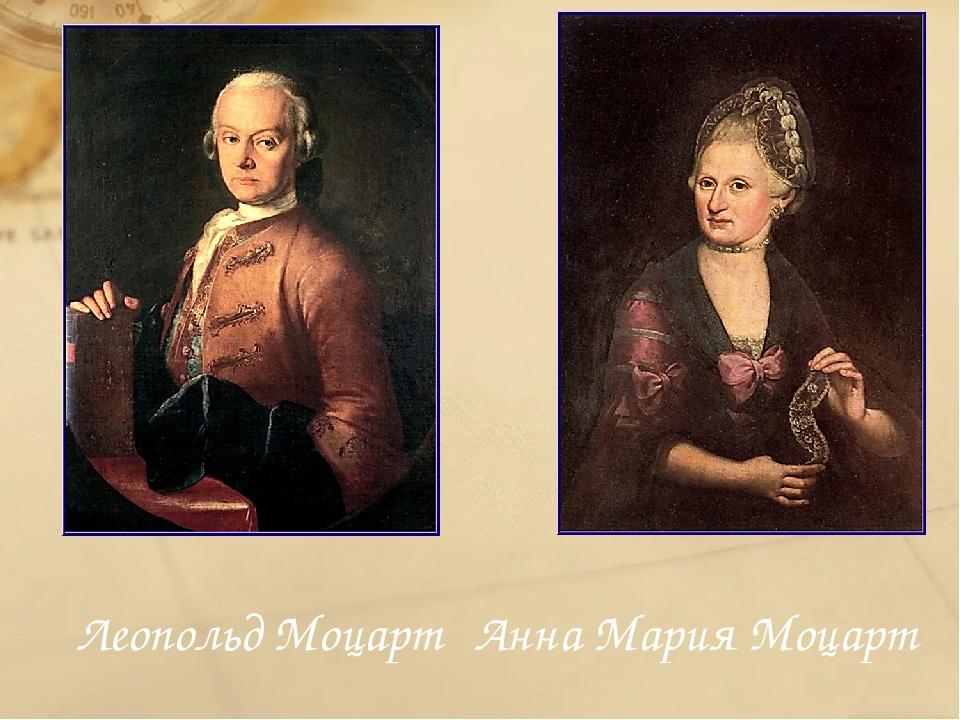 Леопольд Моцарт Анна Мария Моцарт