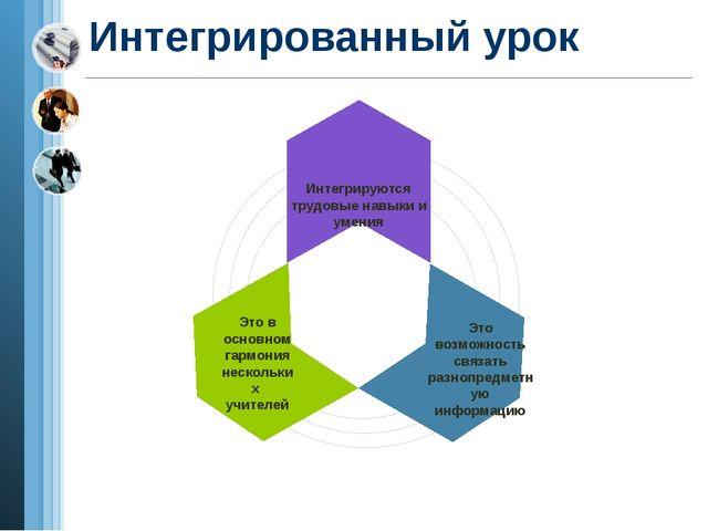 Интегрированный урок Интегрируются трудовые навыки и умения Это в основном га...