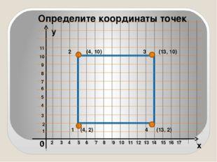 x y Определите координаты точек 0 1 2 3 4 5 6 7 8 9 10 11 12 13 14 15 16 17 1