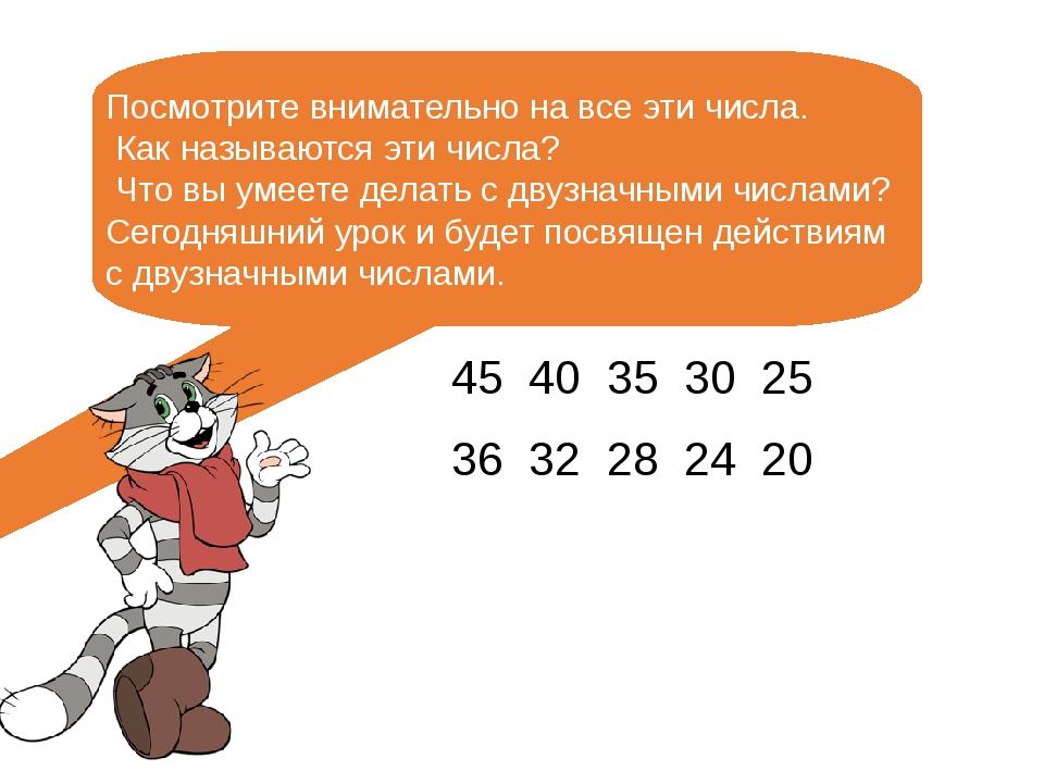 Посмотрите внимательно на все эти числа. Как называются эти числа? Что вы ум...