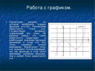 Работа с графиком. Рассмотрим рисунок, на котором изображен график функции y