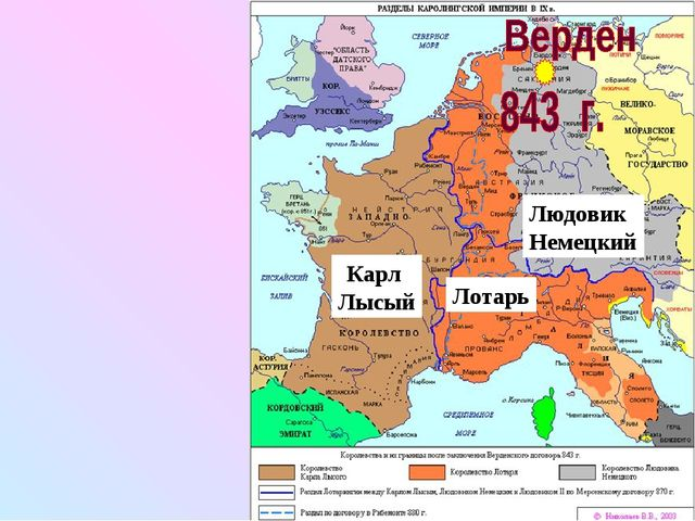 Карл Лысый Лотарь Людовик Немецкий