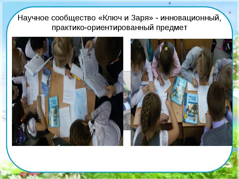 Научное сообщество «Ключ и Заря» - инновационный, практико-ориентированный пр...