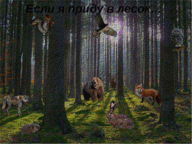 Если я приду в лесок…