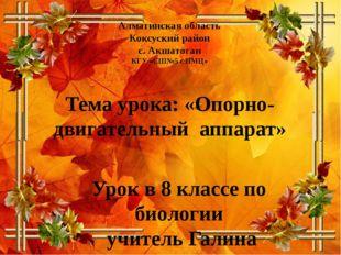 Алматинская область Коксуский район с. Акшатоган КГУ «СШ№5 с ПМЦ» Тема урока