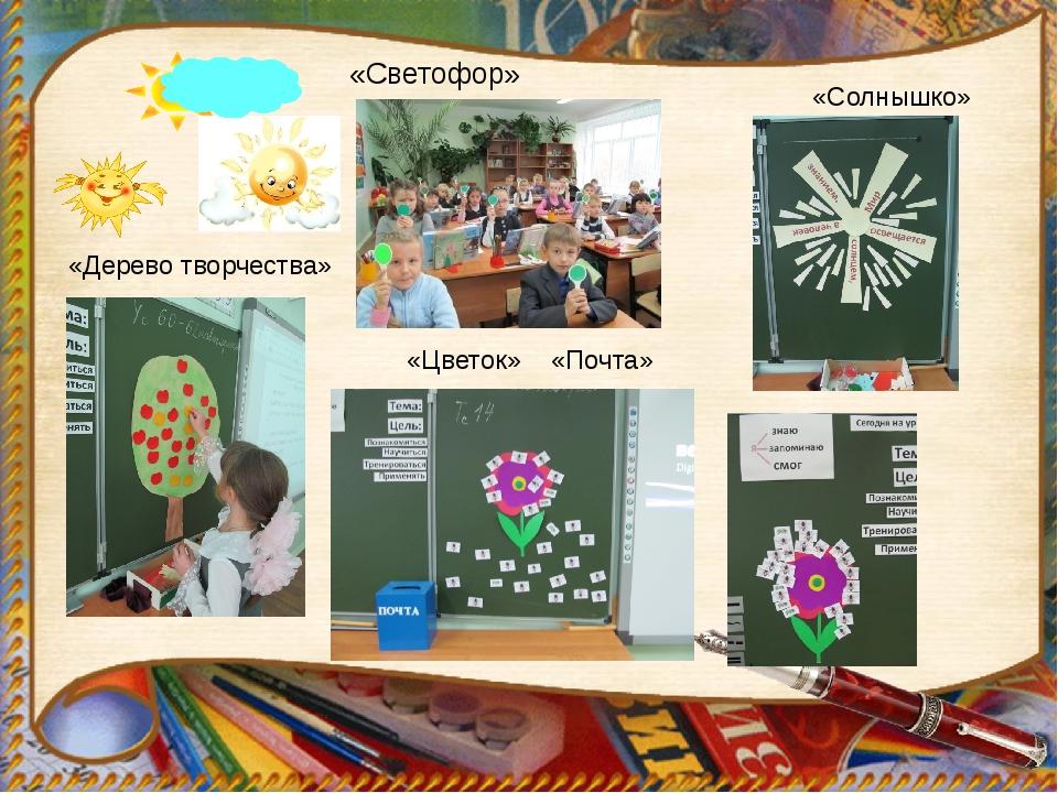 «Дерево творчества» «Солнышко» «Цветок» «Почта» «Светофор»