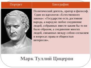 Марк Туллий Цицерон Политический деятель, оратор и философ. Один из идеологов